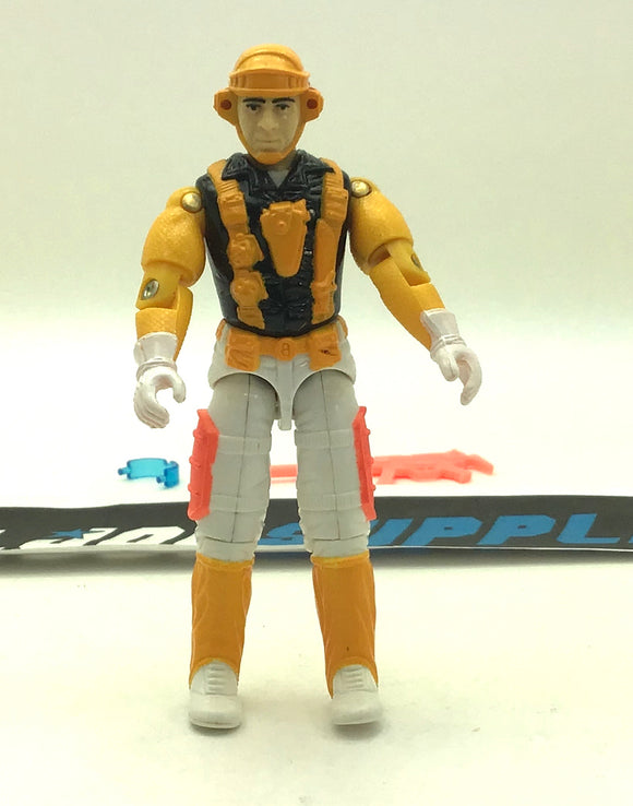 1991 VINTAGE ARAH G.I. JOE CLOUDBURST V1 AIR COMMANDOS GLIDER TROOPER GLIDER PILOT LOOSE 100% COMPLETE (c)