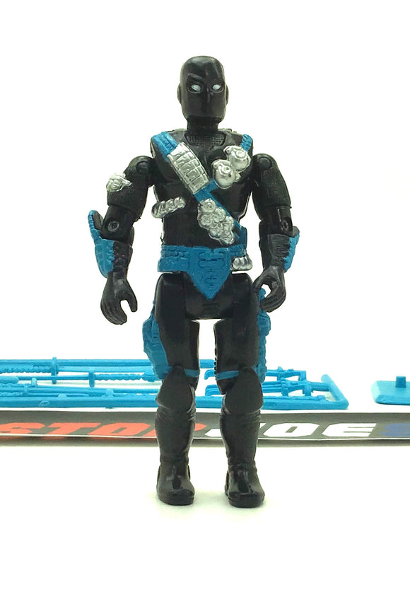1993 VINTAGE ARAH G.I. JOE NINJA FORCE SNAKE EYES V5 COVERT MISSION SPECIALIST LOOSE 100% COMPLETE