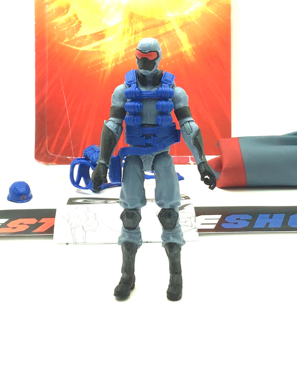 2012 RETALIATION G.I. JOE COBRA ENEMY TROOPER V18 LOOSE 100% COMPLETE + FULL CARD