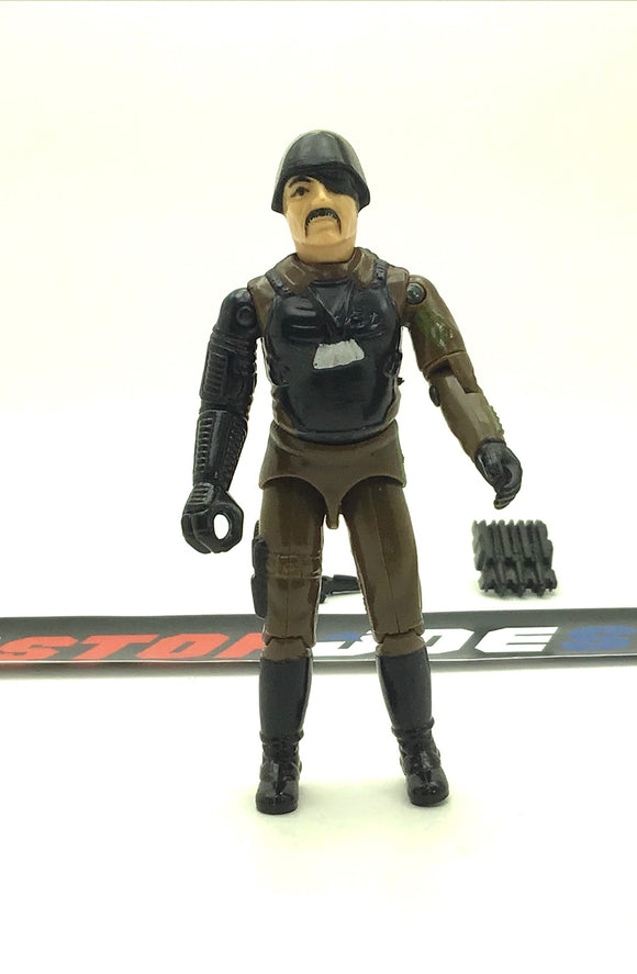 1983 VINTAGE ARAH G.I. JOE COBRA MAJOR BLUDD V1 MERCENARY LOOSE 100% COMPLETE (b)
