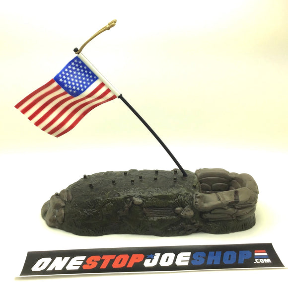 1997 ARAH G.I. JOE STARS AND STRIPES FOREVER FLAG MOUNTAIN BASE PLAYSET DISPLAY LOOSE 100% COMPLETE