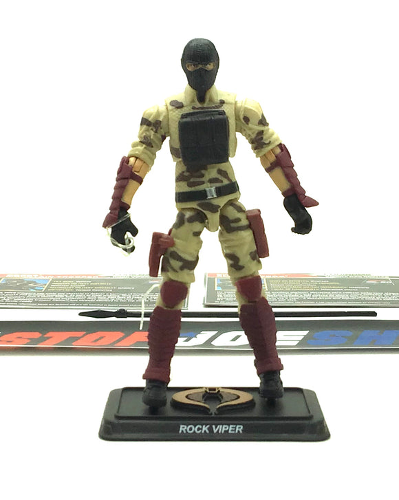 2015 50TH ANNIV G.I. JOE COBRA ROCK VIPER V4 ROCK RAMPAGE PACK LOOSE 100% COMPLETE + F/C