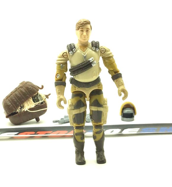 1990 VINTAGE ARAH G.I. JOE AIRWAVE V1 SKY PATROL AUDIBLE FREQUENCY SPECIALIST LOOSE 100% COMPLETE