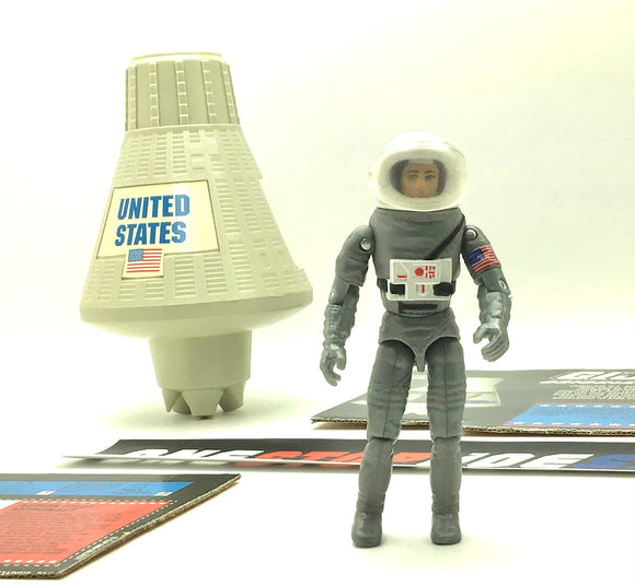 1994 G.I. JOE ACTION PILOT ASTRONAUT V1 W/ SPACE CAPSULE ORIGINAL ACTION TEAM 1964-1994 30TH ANNIVERSARY COMMEMORATIVE LOOSE 100% COMPLETE + F/C
