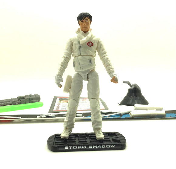2009 ROC G.I. JOE COBRA STORM SHADOW V33 PARIS PURSUIT LOOSE 100% COMPLETE + F/C