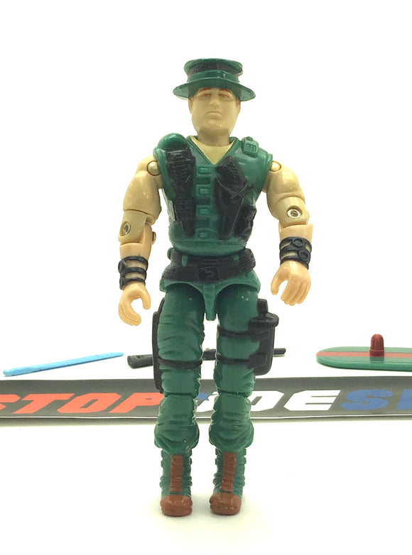 1988 ARAH G.I. JOE MUSKRAT V1  SWAMP FIGHTER LOOSE 100% COMPLETE (a)
