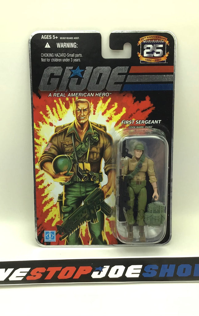 2007 25TH ANNIV G.I. JOE DUKE V23 WAVE 4 NEW SEALED FOIL CARD
