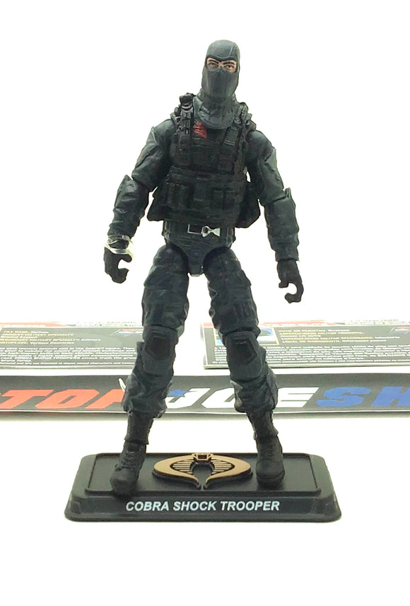 2015 50TH ANNIV G.I. JOE COBRA SHOCK TROOPER V1 ROCK RAMPAGE PACK LOOSE 100% COMPLETE + F/C