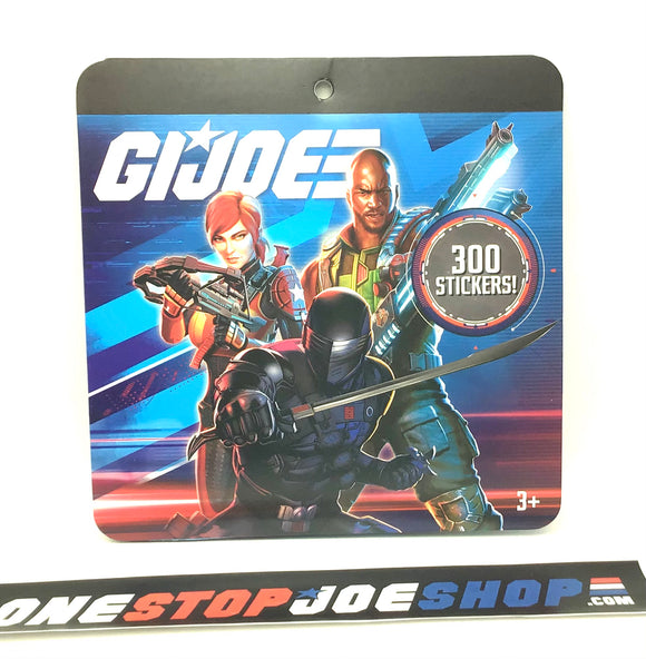 2020 G.I. JOE COBRA CLASSIFIED STICKER BOOK 300 STICKERS WAL-MART EXCLUSIVE NEW