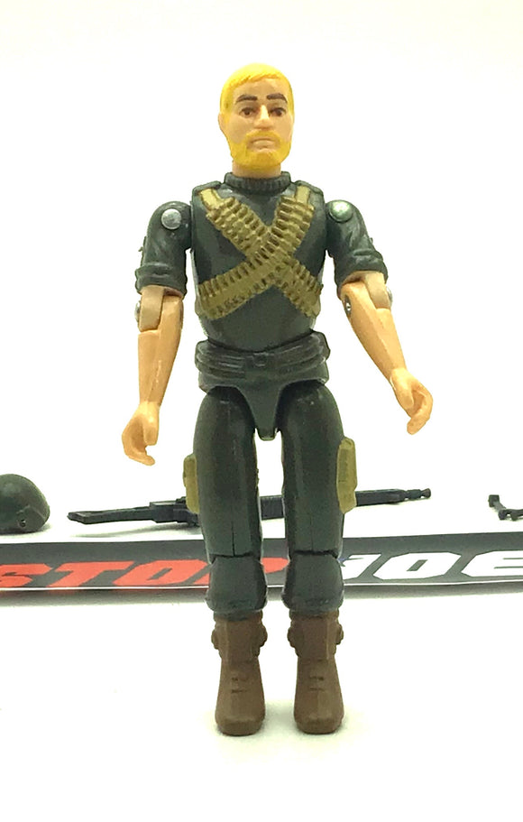 1982 VINTAGE ARAH G.I. JOE ROCK N ROLL V1 MACHINE GUNNER LOOSE 100% COMPLETE (c)