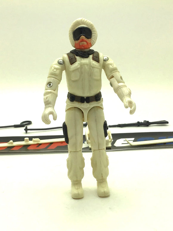 1983 ARAH G.I. JOE SNOW JOB V1 ARCTIC TROOPER LOOSE 100% COMPLETE (b)