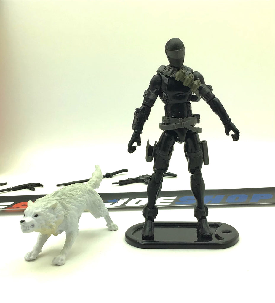 2013 RETALIATION G.I. JOE SNAKE EYES V67 ULTIMATE LOOSE 100% COMPLETE + FULL FILE CARD NO INSERT
