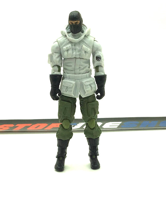 2009 ROC G.I. JOE FROSTBITE V12 BRAVO ICE DAGGER VEHICLE DRIVER LOOSE 100% COMPLETE NO FILE CARD GREEN JOINTS VARIANT