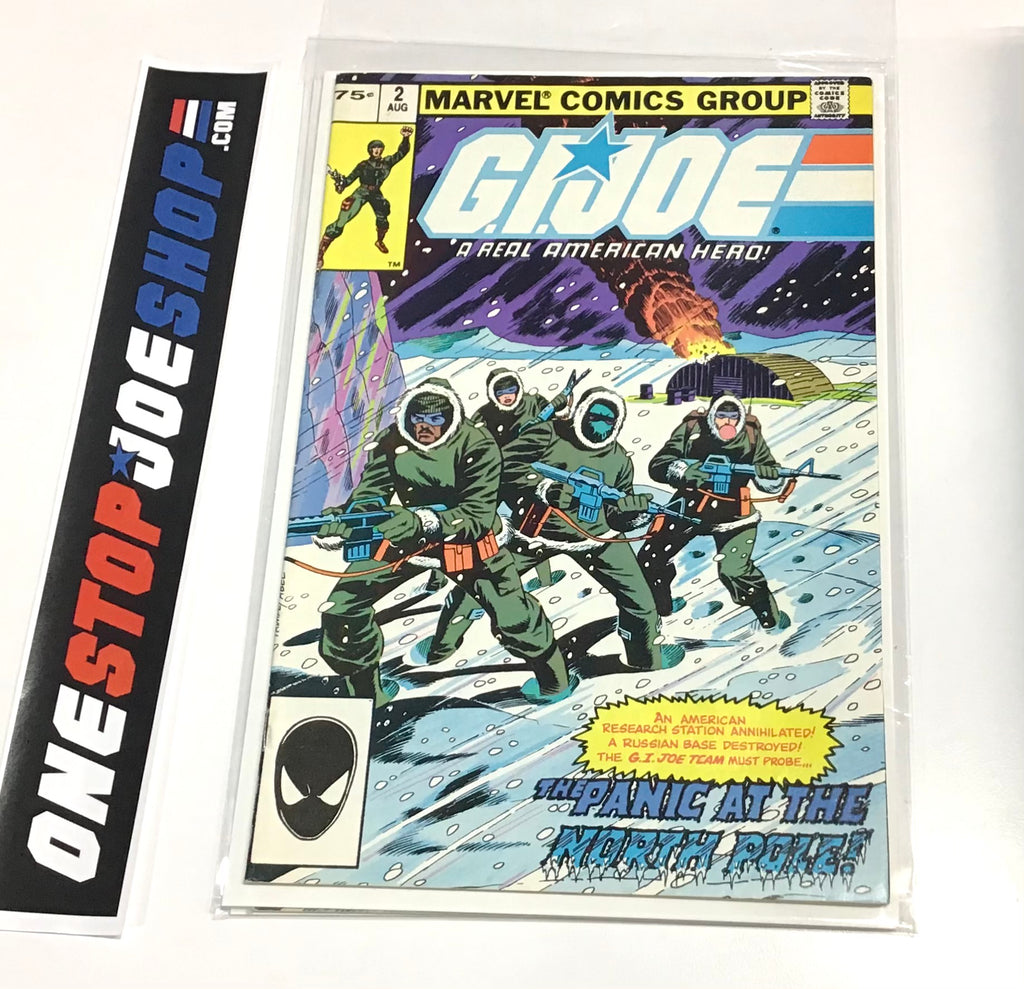 MARVEL COMICS G.I. JOE A REAL AMERICAN HERO DIRECT ISSUE #2 COMIC BOOK AUGUST 1982 2ND PRINT FN/VF