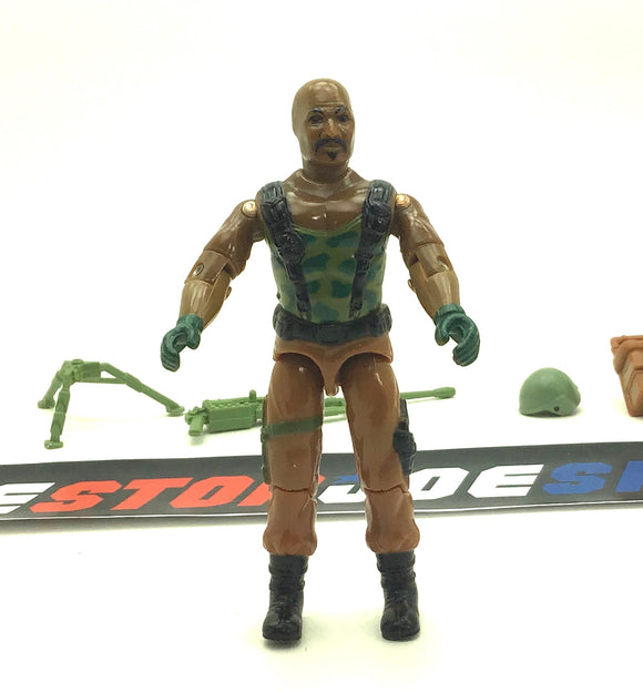 1984 VINTAGE ARAH G.I. JOE ROADBLOCK V1 MACHINE GUNNER LOOSE 100% COMPLETE (a)