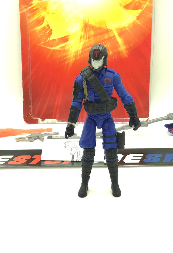 2012 RETALIATION G.I. JOE COBRA COMMANDER V49B LOOSE 100% COMPLETE + FULL CARD