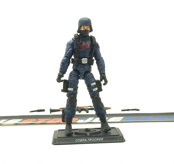 2011 30TH ANNIVERSARY G.I. JOE COBRA ENEMY TROOPER V15 LOOSE 100% COMPLETE NO FILE CARD