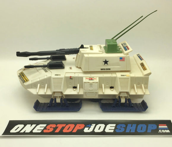 1987 VINTAGE ARAH G.I. JOE BATTLE FORCE 2000 DOMINATOR SNOW TANK LOOSE 100% COMPLETE (a)