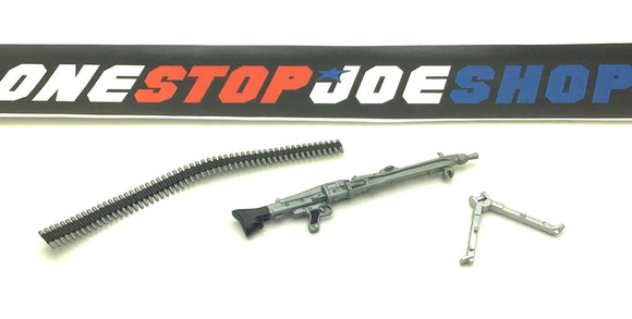 2009 JOECON SGT. SHIMIK V1 MACHINE GUN / BIPOD / AMMO BELT SET ACCESSORY PART CUSTOMS
