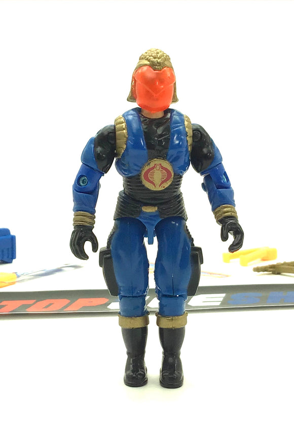1991 VINTAGE ARAH G.I. JOE COBRA COMMANDER V4 COBRA ENEMY LEADER LOOSE 100% COMPLETE (a)