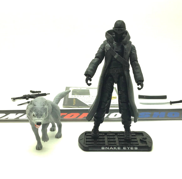 2009 ROC G.I. JOE SNAKE EYES V44 PARIS PURSUIT LOOSE 100% COMPLETE + F/C WHITE TIMBER