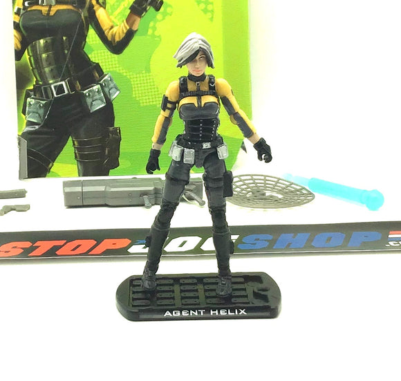 2009 ROC G.I. JOE AGENT HELIX V1 LOOSE 100% COMPLETE + FULL CARD