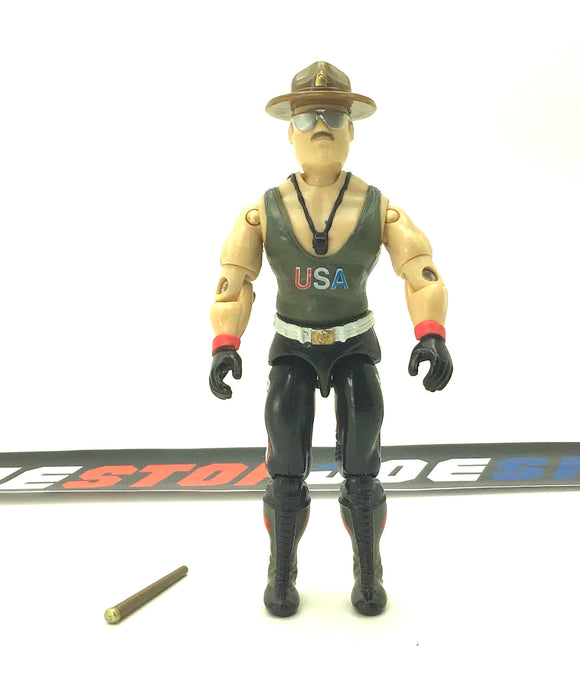 1986 ARAH G.I. JOE SGT. SLAUGHTER V1 DRILL INSTRUCTOR MAIL IN LOOSE 100% COMPLETE (a)