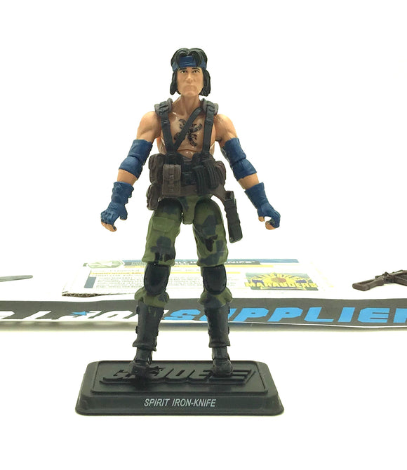 2011 30TH ANNIVERSARY G.I. JOE SPIRIT IRON-KNIFE V5 SLAUGHTER'S MARAUDERS PACK BBTS EXCLUSIVE LOOSE 100% COMPLETE + F/C