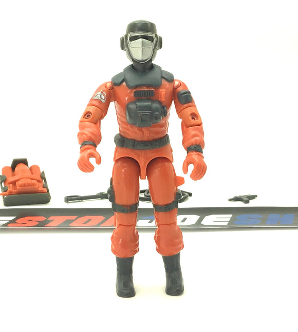 1985 ARAH G.I. JOE BARBECUE V1 FIRE FIGHTER LOOSE 100% COMPLETE (a)