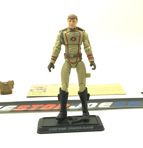 2008 25TH ANNIVERSARY G.I. JOE COBRA CRIMSON GUARD V13B EXTREME CONDITIONS DESERT ASSAULT SQUAD PACK INTERNET EXCLUSIVE LOOSE 100% COMPLETE + F/C