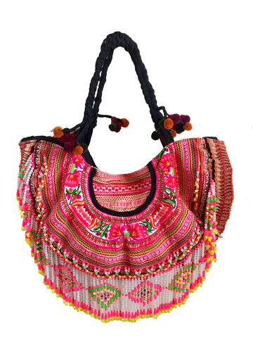 Tribal tassel beach ibiza bag