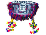 Unique festival turkmen embroidered poncho with tassels