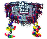Unique turkmen embroidered poncho with tassels