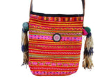 Hmong tribal bag with tassels