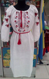 "Sonya white embroidered ""Vyshyvanka"" dress"