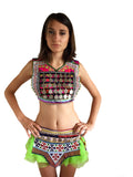 Festival gypsy boho kuchi tribal beaded and embroidered belt