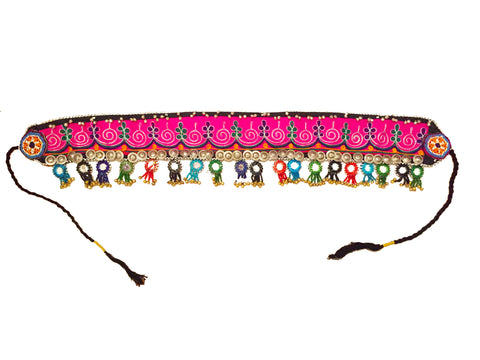 Festival kuchi tribal belt with mirrors