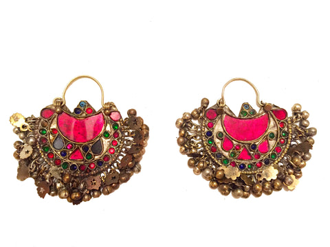 Kuchi tribal earrings
