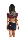 Festival ottoman embroidered poncho with tassels