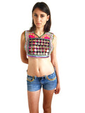Boho festival kuchi tribal top with coins