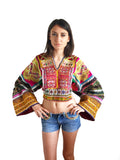 Festival boho tribal embroidered and beaded top