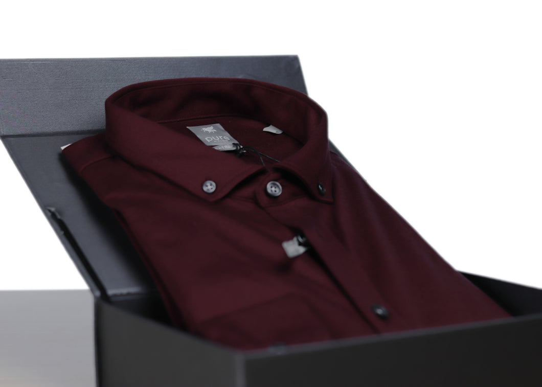 Pure Hemd Extra Slim - bordeaux