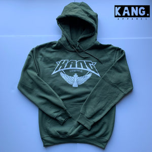 KANG LIFESTYLE HOODIE | OLIVE/WHITE