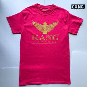 KANG CHESS PIECE TEE | HOT PINK N GOLD