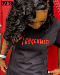CHECKMATE TEE | Black Red