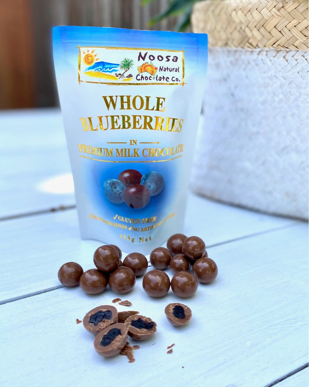 Blueberries Coated in Premium Milk Chocolate