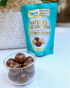 Macadamia Nuts Coated in Premium Milk Chocolate