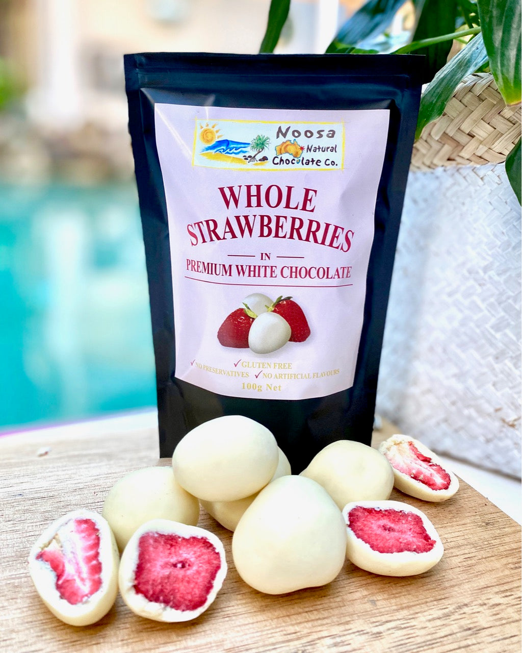 Australian Grown Strawberries Coated in Premium White Chocolate