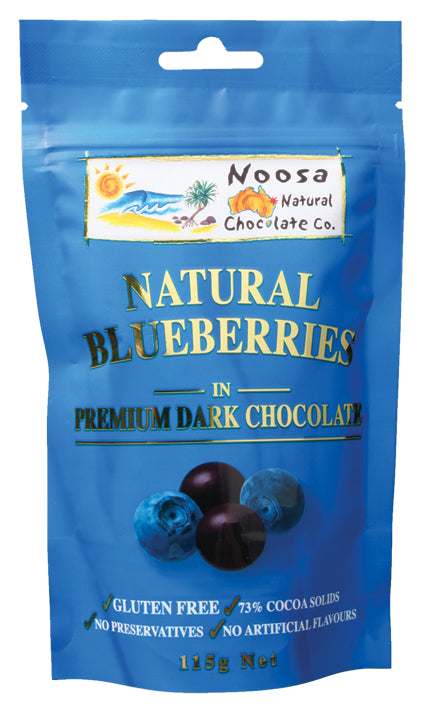 Blueberries Coated in Premium Dark Chocolate