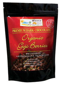 Premium Dark Chocolate Covered Tibetan Organic Goji Berries Naturally Gluten Free Preservative Free. Organic. 70% Cocoa